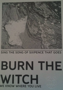 radiohead, off line, flyer, burn the witch